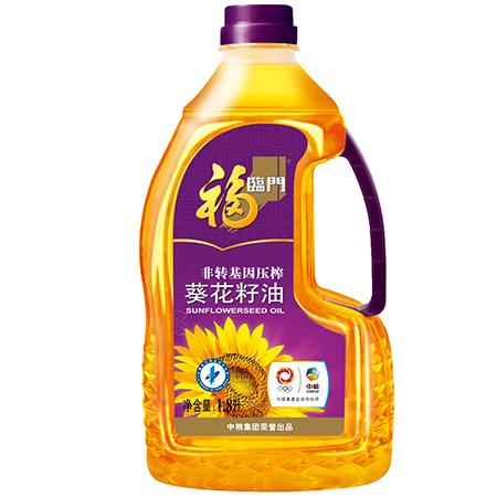 中粮福临门压榨一级葵花籽油1.8L