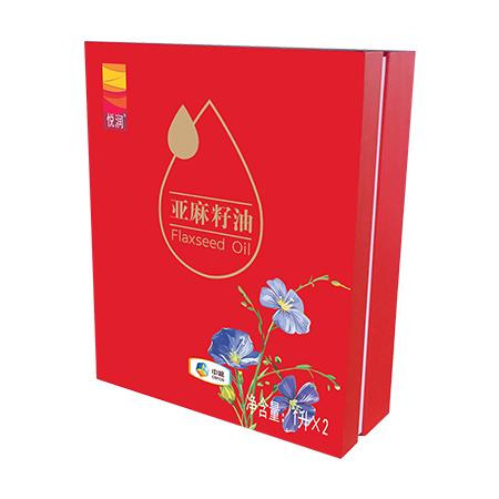 中粮悦润亚麻籽油礼盒1L*2