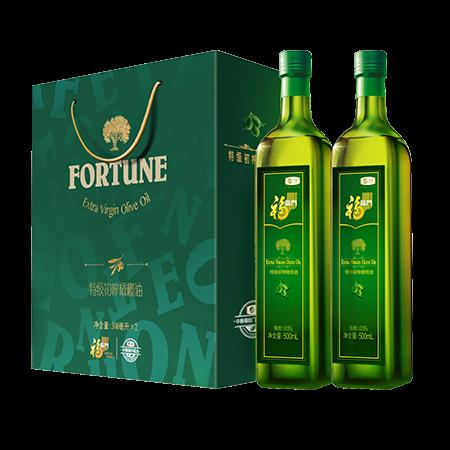 中粮福临门特级初榨橄榄油礼盒500ml*2