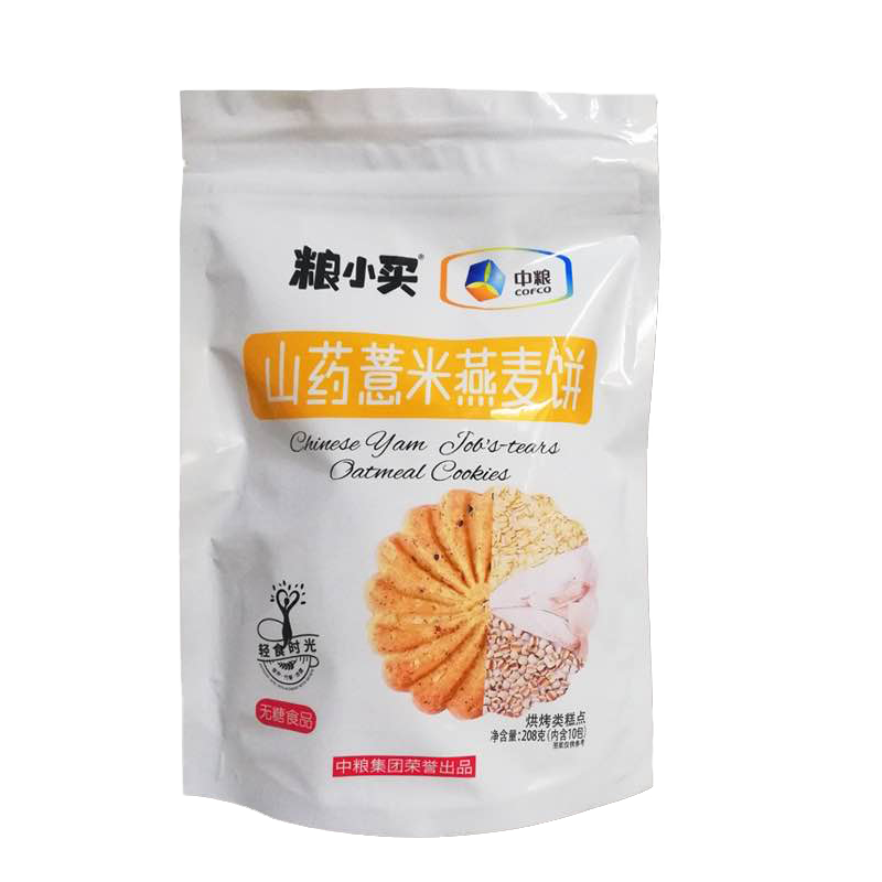 中粮粮小买无糖山药薏米燕麦饼208g